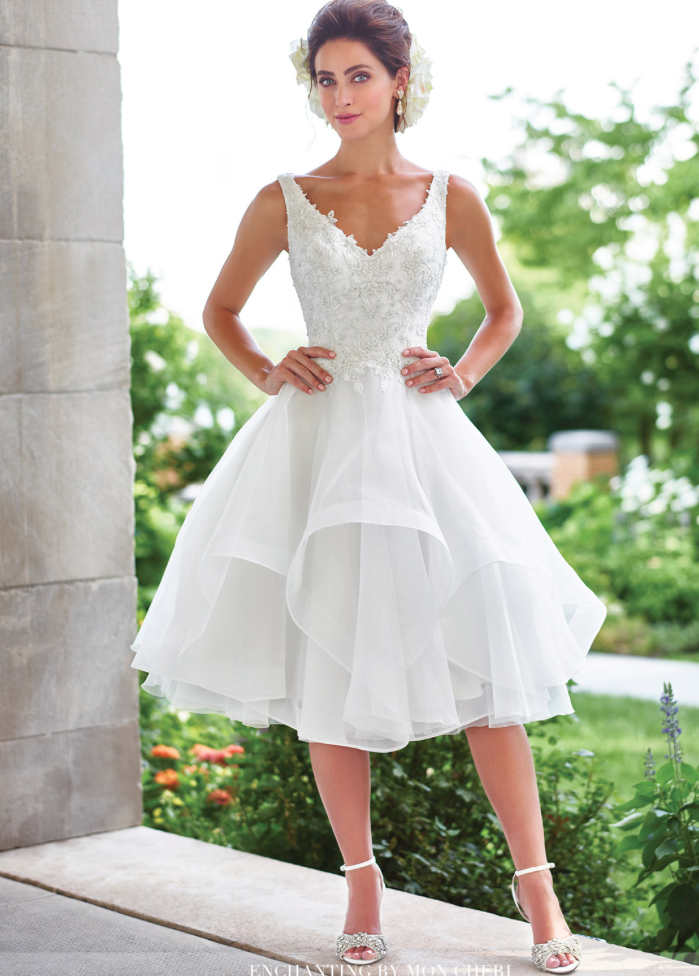 Long Beach Island Wedding Trends Tea Length Dress