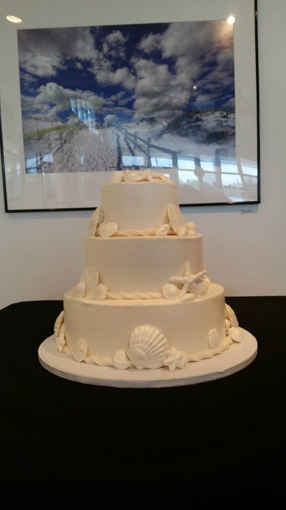 LBI Wedding Cakes with Seashells