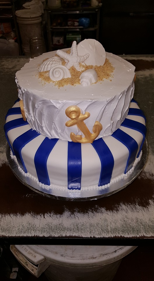 Nautical LBI Wedding Cakes for beach weddings