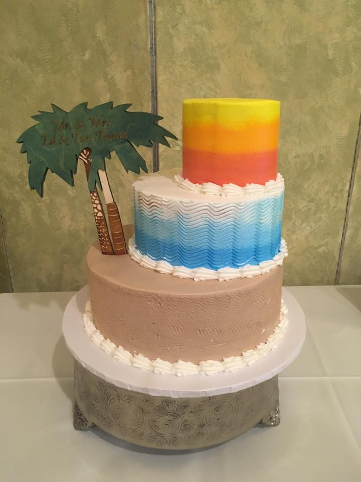 Ombre LBI Wedding Cake by The Big Apple Bakery
