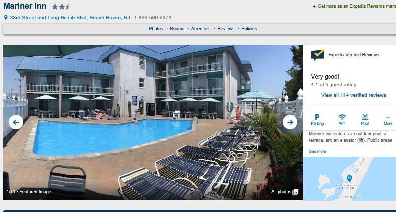 Best LBI Hotels 2019 - Mariner Inn