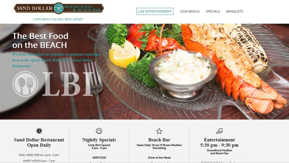 Best LBI Hotels 2019 - Restaurant at Spray Beach Hotel