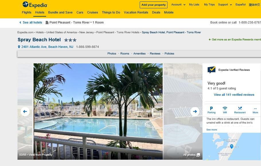 Best LBI Hotels 2019 - Spray Beach Hotel