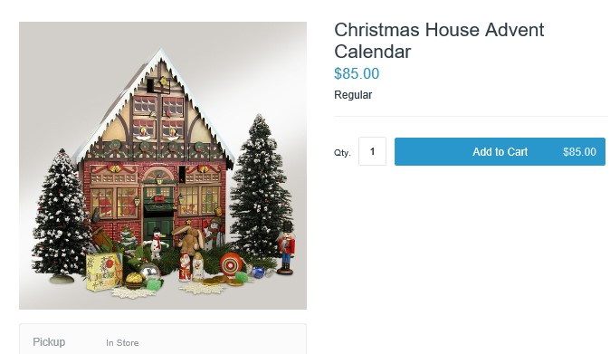 Christmas House Wooden Advent Calendar - LBI Christmas Shopping